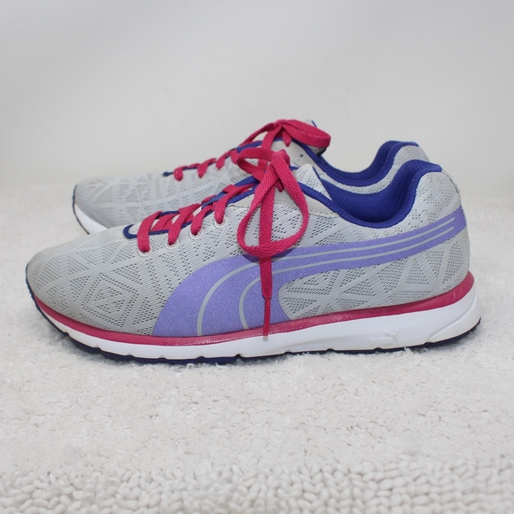 SALE! Puma Running Sneakers White Purple Size 9